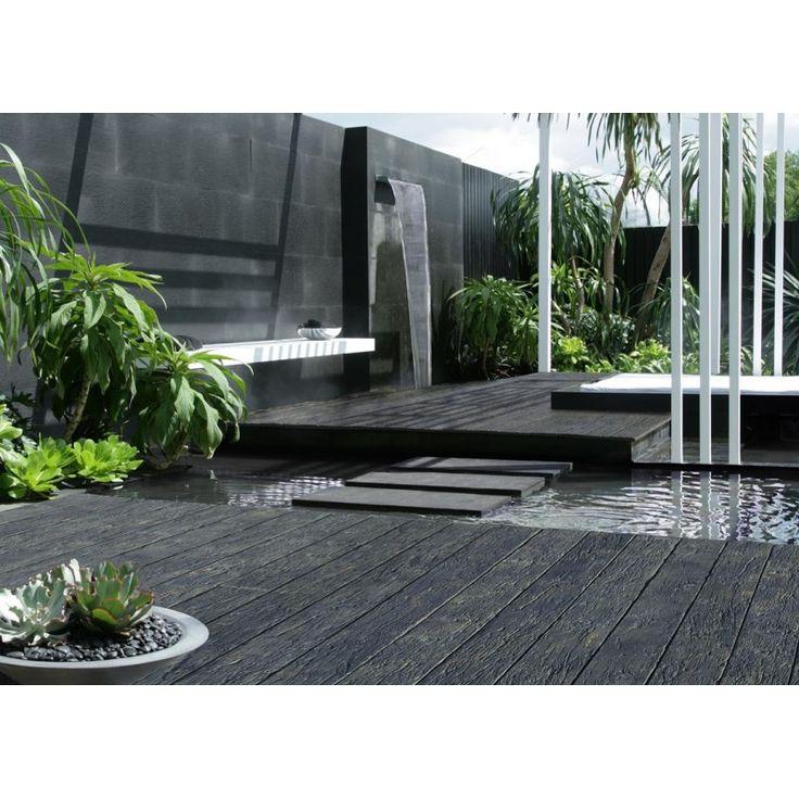 Solum vloeren - Oud Eiken Verkoold, terras moderne tuin. Hét meest natuurgetrouwe alternatief voor hardhout en composiet.