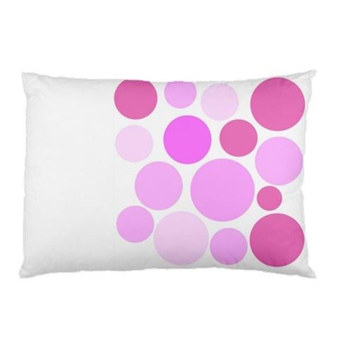 Pink dots pillow case Designer Rabecca Primeau @ Kalektive Flair