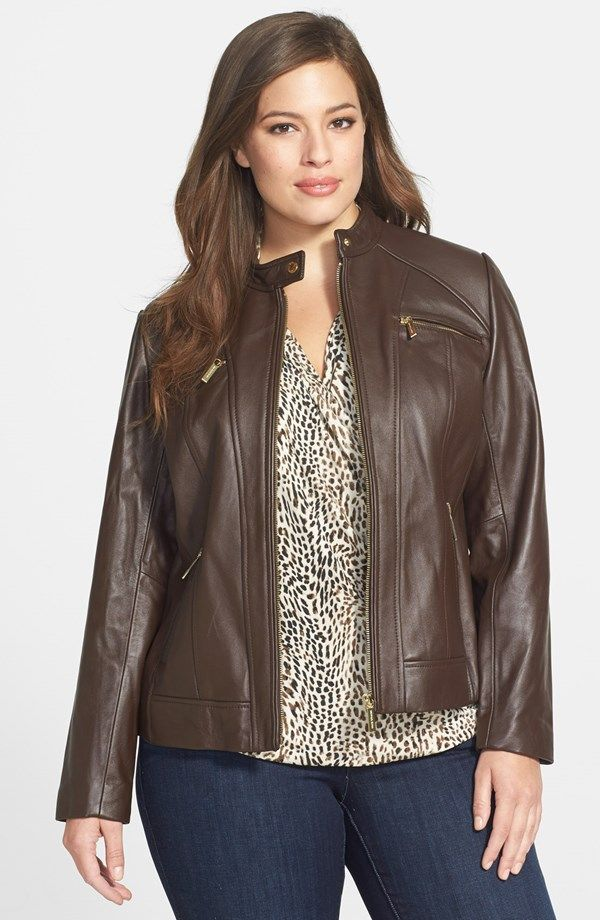 The 25  best Plus size leather jacket ideas on Pinterest | Define ...