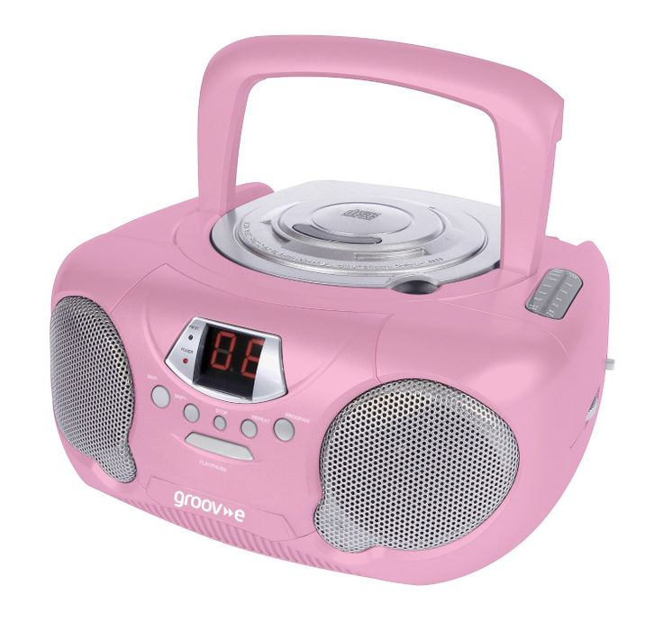 Groov-e GVPS713RD Boombox Portable CD Player with Radio - Pink: Amazon.co.uk: Hi-Fi & Speakers