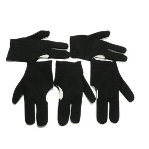 Black Fingers Gloves Billiards Pool Snooker Cue Shooters Indoor Game Accessories #Unbranded