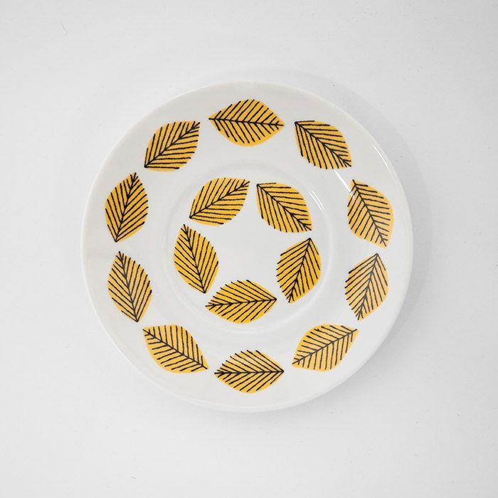 Talerz 16cm ARBOUR HARBOUR (żółte wzorki) House of Rym ScandiShop.pl - Skandynawskie Inspiracje