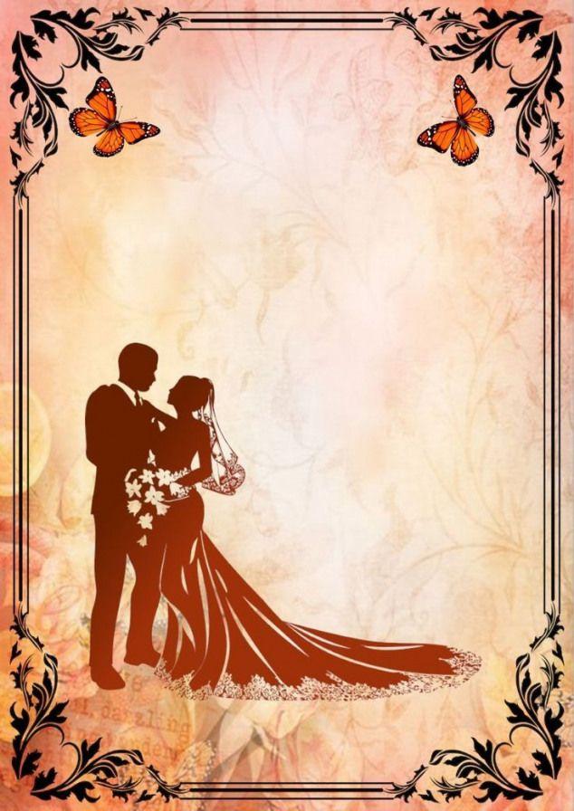 Blank Wedding Invitations Wedding Invitation Background Wedding Invitation Card Design
