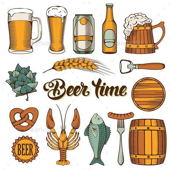Beer time | {DOODLE} Food and drinks | Beer, Beer mugs ...