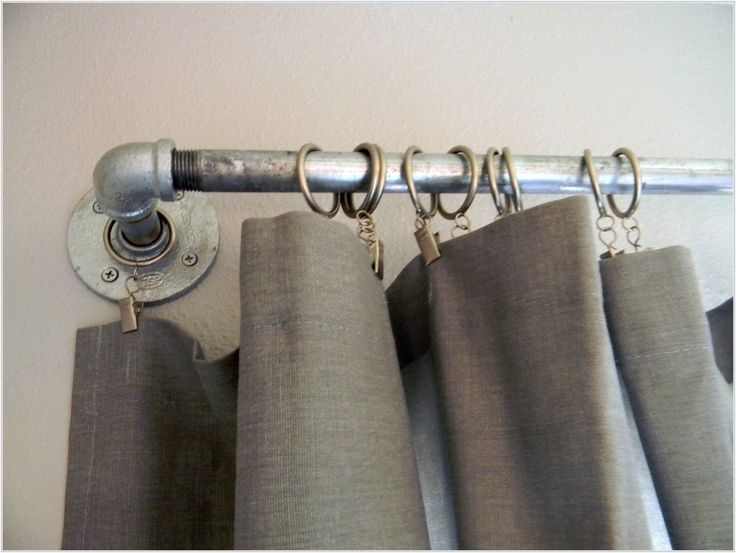 Outdoor Curtain Panel, And Metal Curtain Rods. Curtain, Outdoor