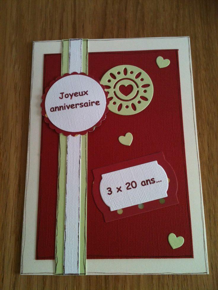 Carte anniversaire en scrap, assortie à l'invitation.
