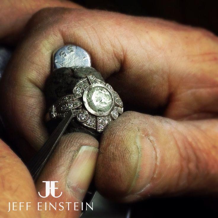 Hand crafting by our in store master jewelers..  #jeffeinstein #jeffeinsteinjewellery #doublebay #jewelry #jewellery #ring #diamonds #diamondring #jewels #handmade #handcrafted #workshop #engagement #sydney
