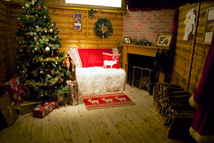 Take a break from teh cold outside in our warm log cabin at Santa's Grotto!  www.therainforestcafe.co.uk/christmas.asp