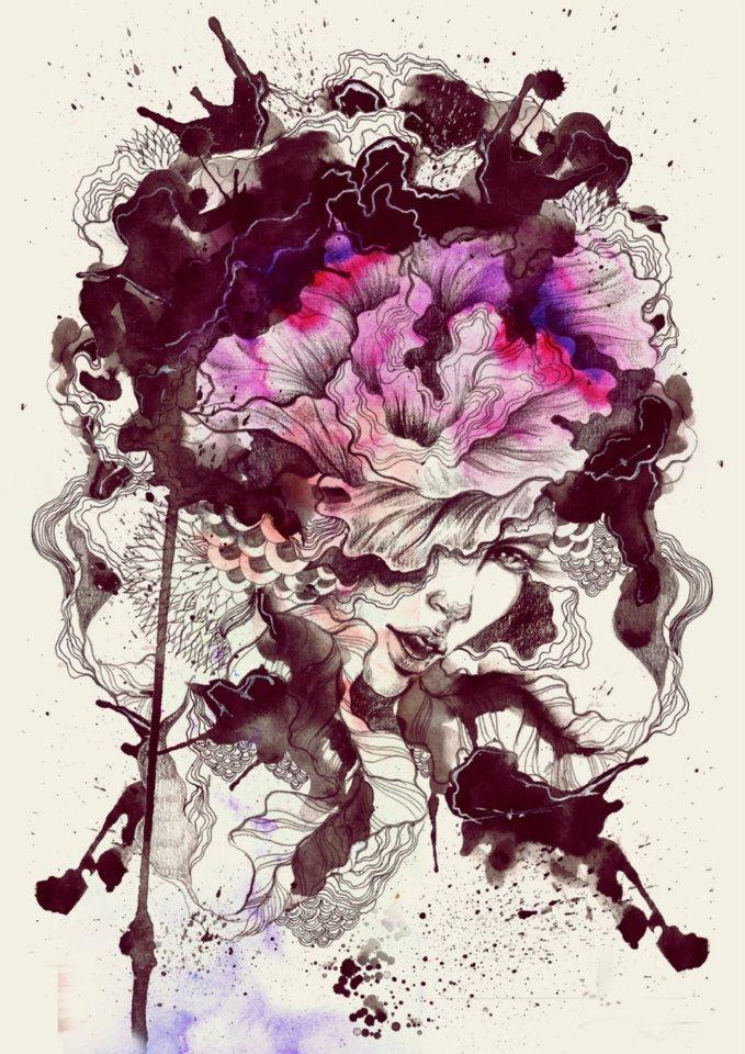 """Hidden Intension""  Graphite & Watercolor in A4 Paper + Digital Print size A3 (c)darylferil.2012"