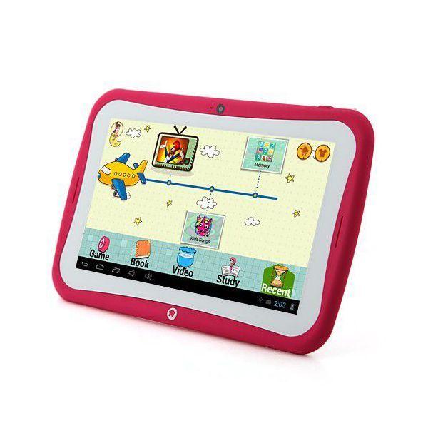 Cette tablette tactile éducative rose dispose d'un écran de 7 pouces (17.8 cm) et fonctionne avec le système d'exploitation de Google : Android 4.2.2. La YoKid 2 dispose de deux caméras dont les objectifs ont une résolution de 0.3MP, une sur la face arrière et une sur la face avant ce produit High Tech. Elle est également équipée d'un processeur dual core cadencé à 1.0GHz. Mémoire interne: 8Go.