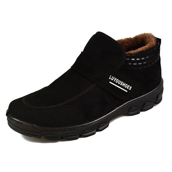 men hook loop plush lining winter boots  men hook loop plush lining winter boots  #men's shoes