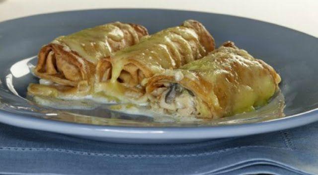 Συνταγές για μικρά και για.....μεγάλα παιδιά: Κανελόνια με ζύμη κρέπας γεμιστά με κοτόπουλο!