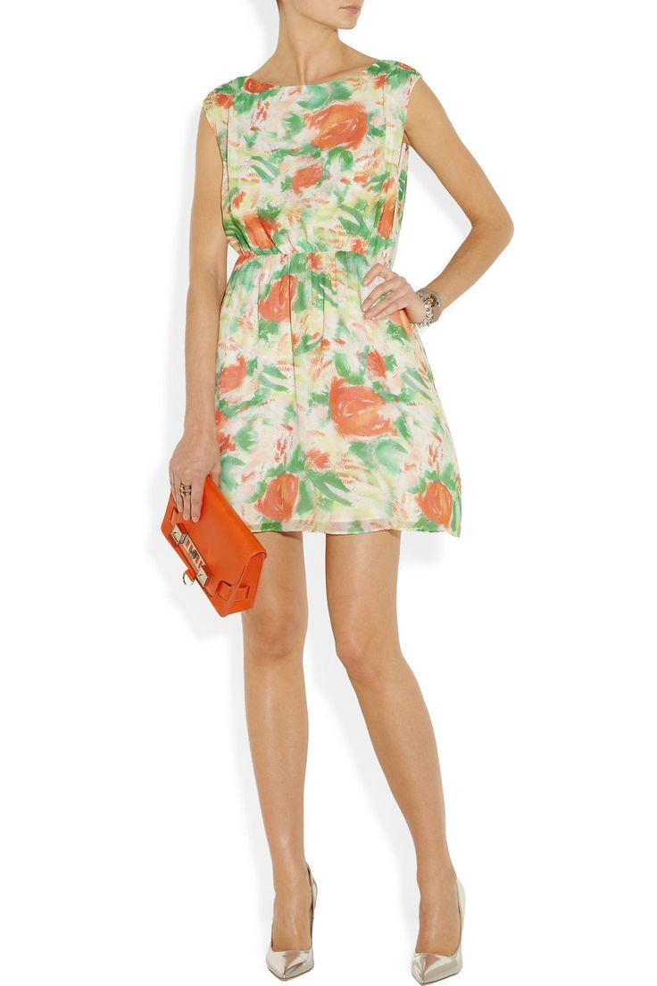 Alice + Olivia Matilda floral-print silk-georgette dress NET-A-PORTER.COM