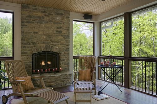 17 best images about fireplace ideas for our screened for Screened porch fireplace designs