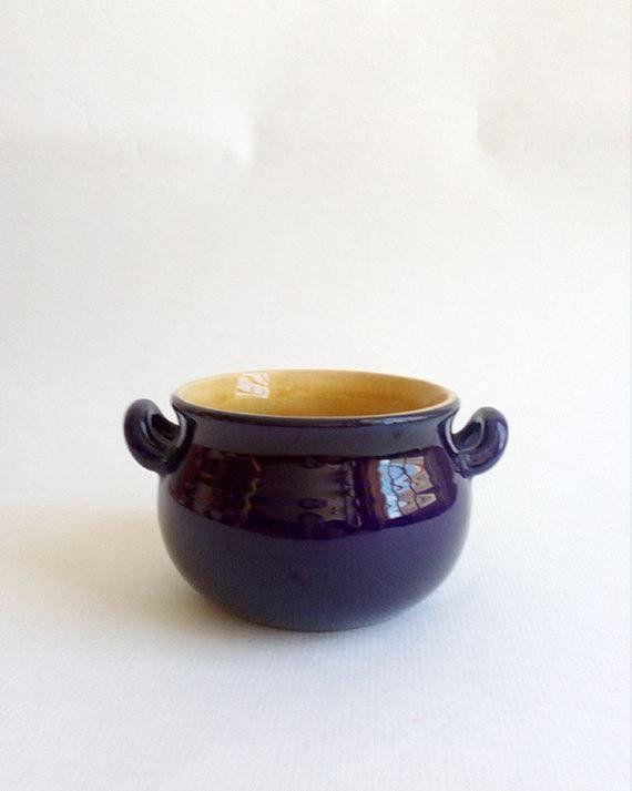 Small Vintage Blue Flowerpot Vintage Ceramic Cachepot Etsy Vintage Ceramic Flower Pots Ceramics