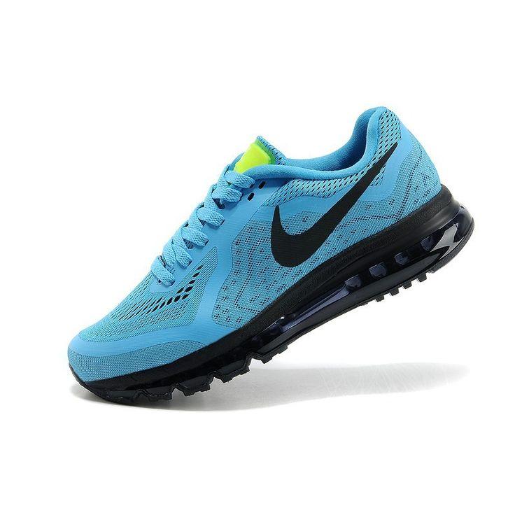 Demping Hardloopschoenen Nike Air Max 2014 Heren Turkos Neon Groen Zwart.HOT SALE!