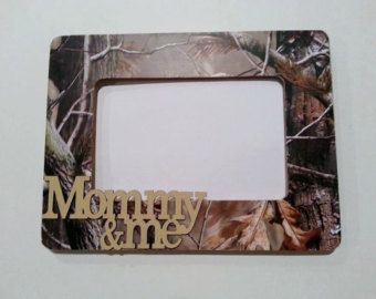 """RealTree Camo Picture Frame with """"Mommy & Me"""" embellishment!"""