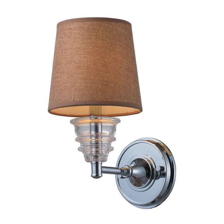 Elk Lighting 66801-1 Insulator Glass Traditional Wall Sconce In Polished Chrome #Traditional