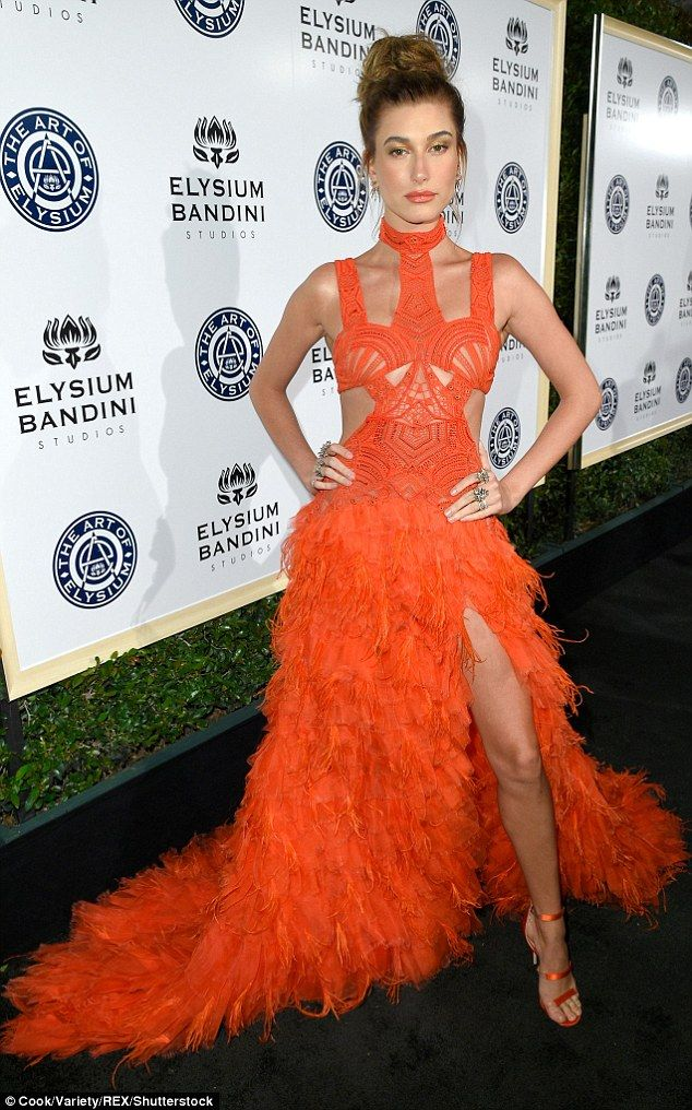 Struck a pose: The daughter of actor Stephen Baldwin added a pair of strappy heels that ma...