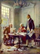 Writing the Declaration of Independence in 1776  by Jean-Leon Gerome Ferris