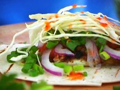 Spicy Grilled Mahi Mahi Fish Tacos (by Bobby Flay) - trying for dinner tonight.