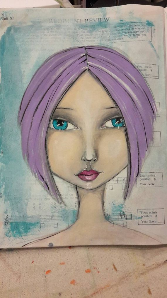 Hey, I found this really awesome Etsy listing at https://www.etsy.com/listing/216834747/mixed-media-original-art-print-blue-eyed