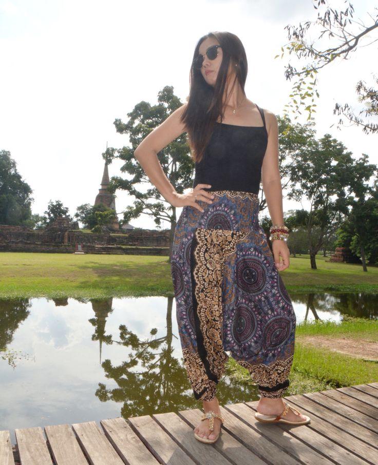 Harem pants women Boho Pants thai pants Sarouel femme Thai pants aladdin pants Women harem pants beach pants harem pants women pantalon thai by HarempantsTH on Etsy