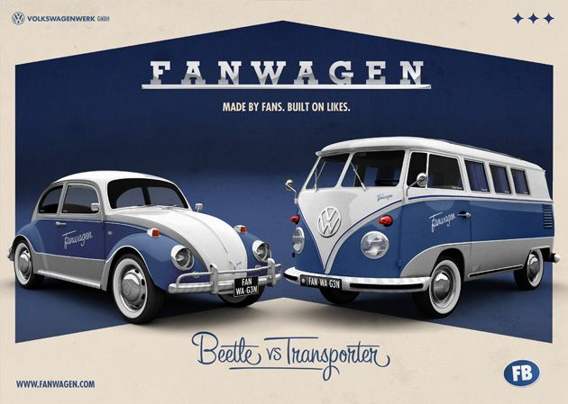 Na Holanda, a Volkswagen está pedindo para os seus fãs escolherem qual clássico preferido: A Kombi ou o Fusca. O modelo mais votado vai ganhar uma edição e