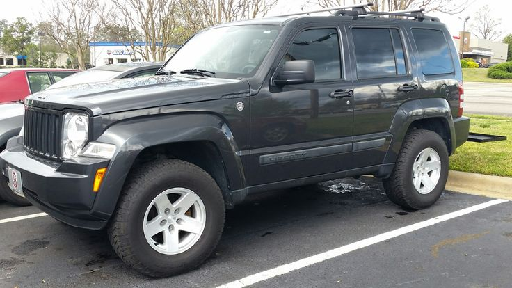 "Lifted Jeep Liberty >> Liberty KK with 16"" TJ Moab Wheels | Jeep liberty, Jeep, Vehicles"