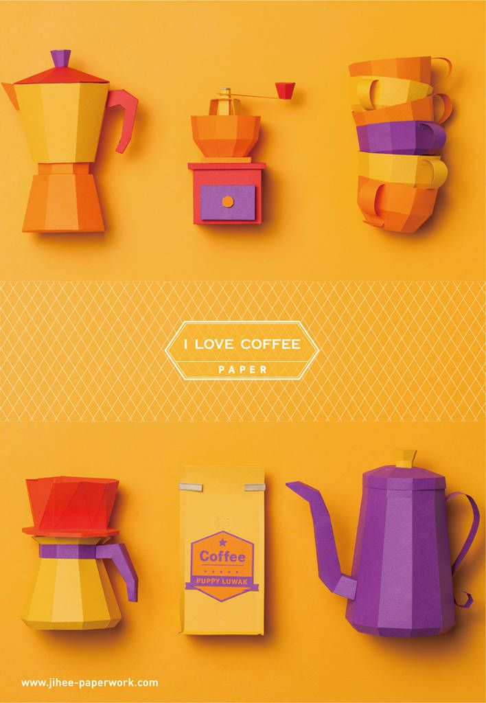 Colorful Coffee Paper Art Project – Fubiz Media