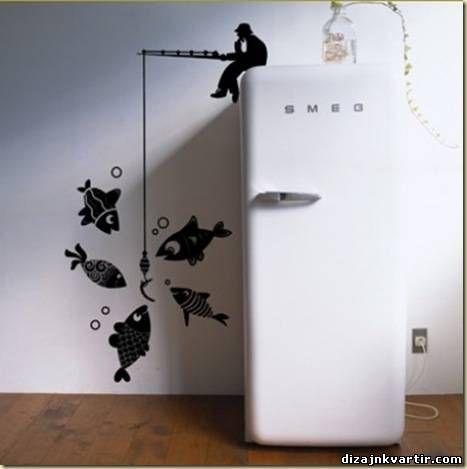 Рисунки на стенах кухни: оригинальный дизайн кухни