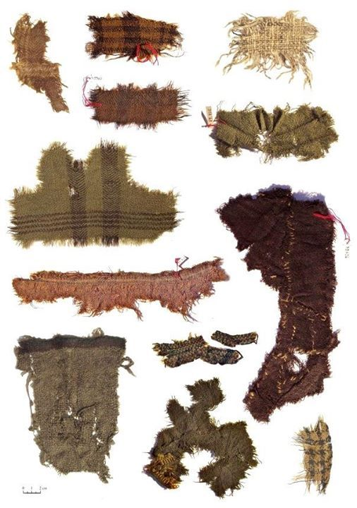 Fragments of Iron Age textiles from the Celtic saltmines at Hallstatt, Austria 506×720 píxeles