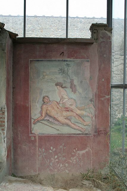 Pyramus and Thisbe, House of Loreius Tiburtinus, Pompeii, province of Naples, Campania region Italy .