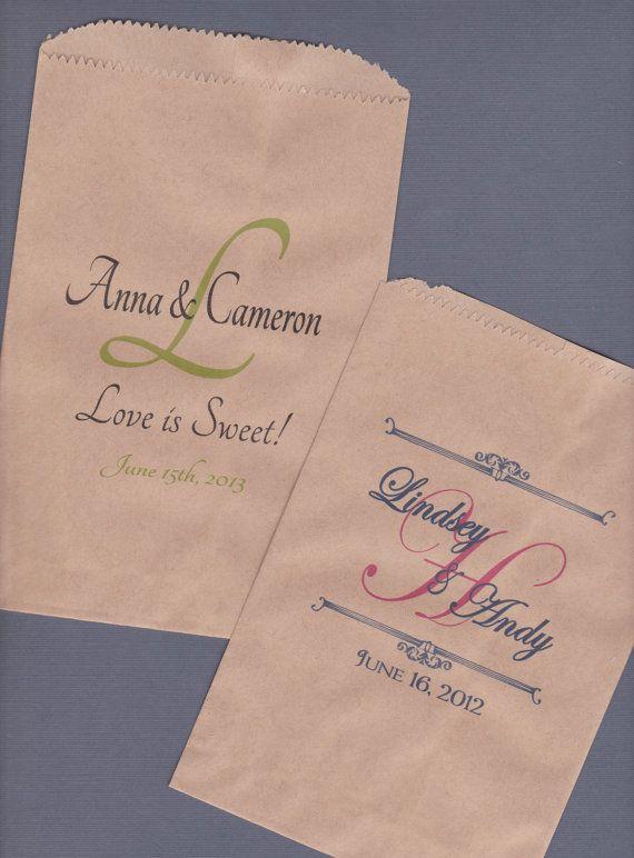 Candy Buffet Bag Kraft Paper Bag Custom Candy Bag by wreathartist, $75.00