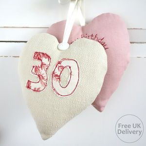Personalised Numbered Heart Decoration