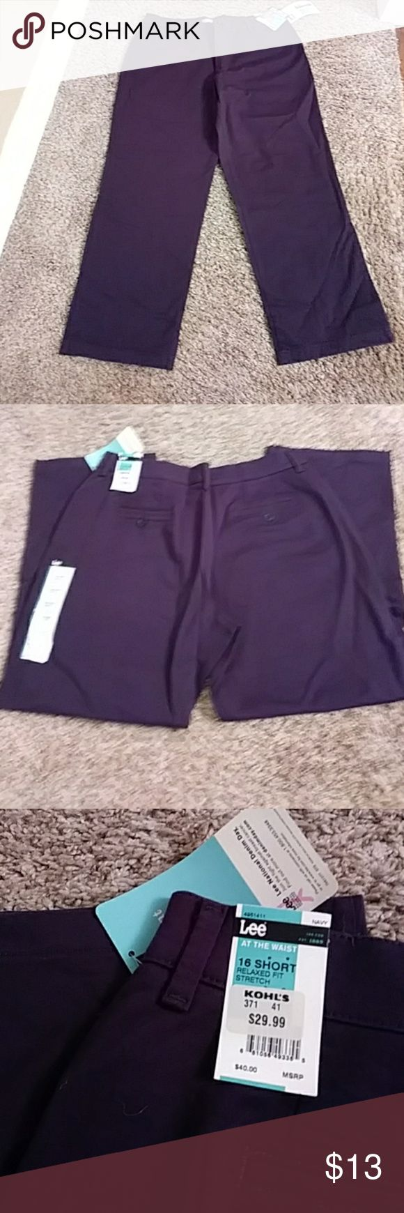 "💞Women's Pants💞 NEW LISTING!! NWT!! Purple flat front pants (not jeans).  Size 16 short.  Waist is 36"", Inseam is 28"". 🌼BUNDLE 2 or more for FREE SHIPPING!!🌼 Lee Pants Wide Leg"