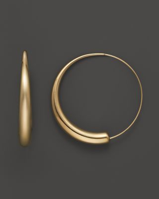 14K Yellow Gold Large Round Endless Hoop Earrings | Bloomingdale's