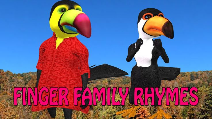3d nursery rhymes | 3d bird finger family | finger family songs for kids