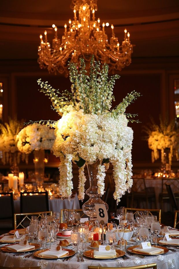 Beautiful Blooms Tall Centerpiece Maxmedia Art Studio The Westin Philadelphia Wedding Reception White And Ivory Flowers Orchid