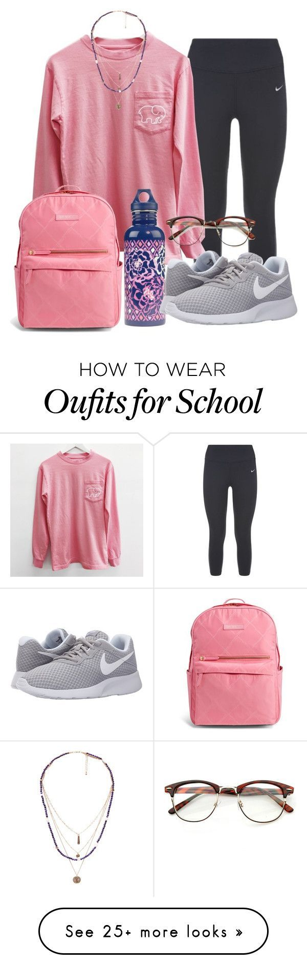 School #3 by hey-faith on Polyvore featuring NIKE, Vera Bradley and MANGO