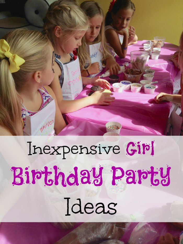 Here are cheap girl Birthday Party ideas that your kids will love but won't break the bank. Cake decorating parties are fun!