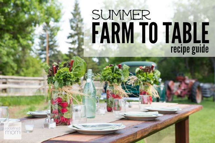 Love the idea of having a farm to table feast in your back yard? Here is a Summer Farm To Table Recipe Guide to help you take advantage of summer