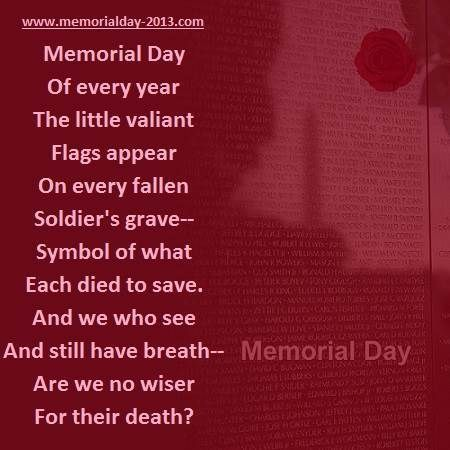 Happy Memorial Day 2013 Poems, Poetry with Images
