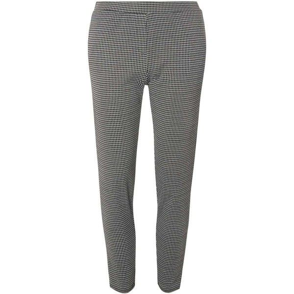 Dorothy Perkins Dogtooth Printed Treggings (53 AUD) ❤ liked on Polyvore featuring black and dorothy perkins