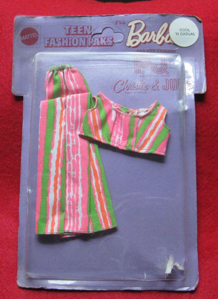 *1970 Barbie, P.J., Christie & Julia - Cool Casuals (Teen Fashions Paks) #
