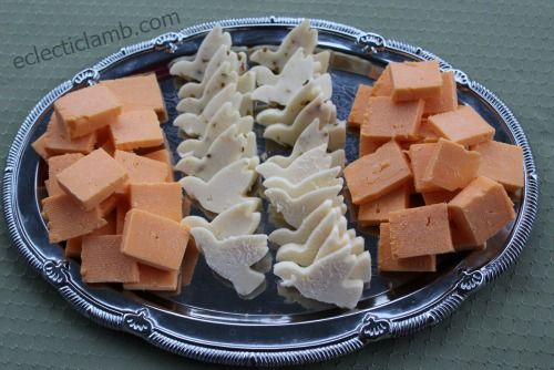 Dove cheese tray for baptism, christening, or christian event