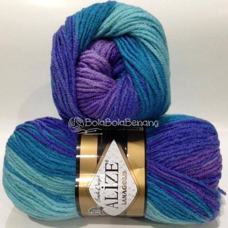 LANAGOLD BATIK 3927, Price: Rp.100.000,- /gulung, Bahan: 49% Wool – 51% Acrylic, Berat/Panjang: 100gr/240m, Knitting Needles: 4mm –6mm, Crochet hook: 5mm - 6mm