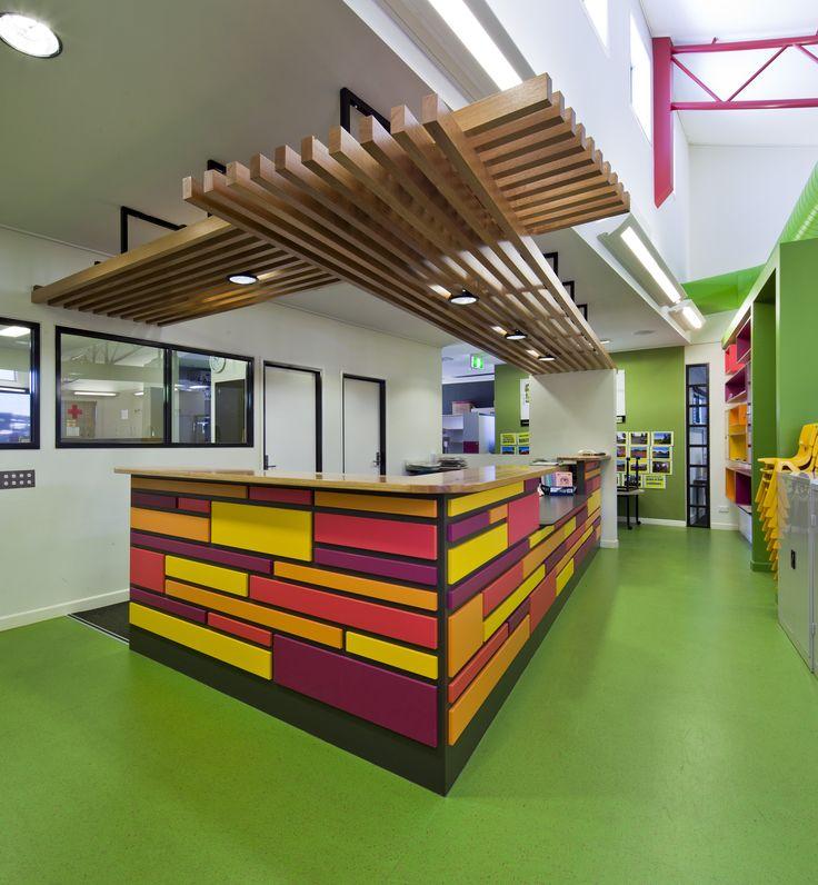 Chinchilla Christian School Library Interiordesign Interior Design Architecture Education Colour