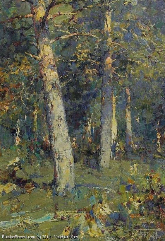 Pines On The Meadows - oil, canvas, 60cm x 40cm, Vasendin Yury: