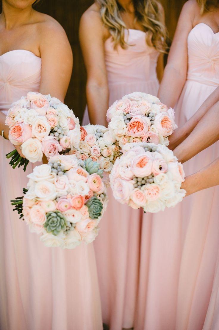 Pretty in pink: http://www.stylemepretty.com/california-weddings/2015/04/29/romantic-orange-county-wedding/   Photography: Sargeant Creative - www.sargeantcreative.com
